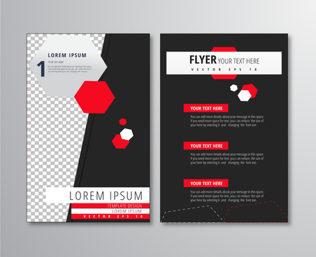 flyer design with polygon and dark background