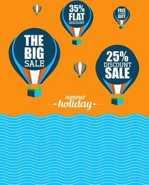 flyer sale summer holidays vector