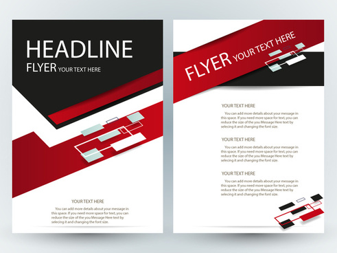 flyer template design with abstract modern style