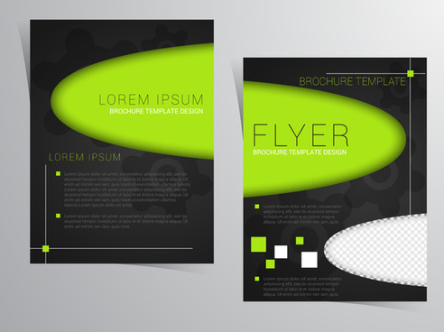 flyer template design with contrast color style