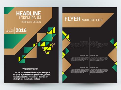 flyer template design with contrast colored background