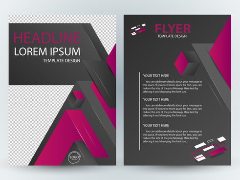 flyer template design with dark modern style