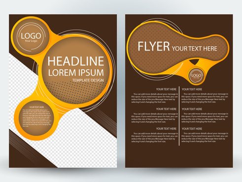 flyer template design with dynamic circles illustration