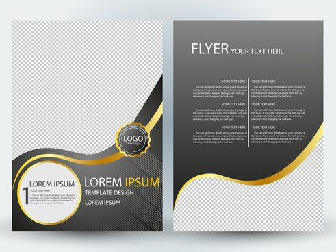 flyer template design with elegant style