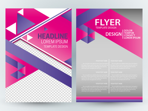 flyer template design with modern colorful abstract style