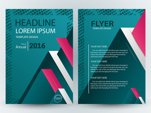 flyer template illustration with 3d blue background
