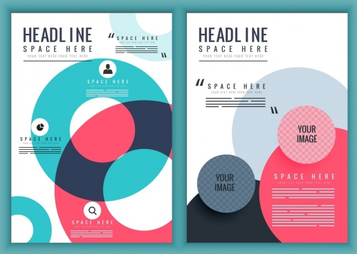 flyer template modern colorful circles decor