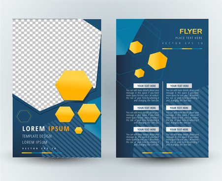Magazine design layout template free vector download 14914 free flyer template vector design with abstract geometric illustration maxwellsz