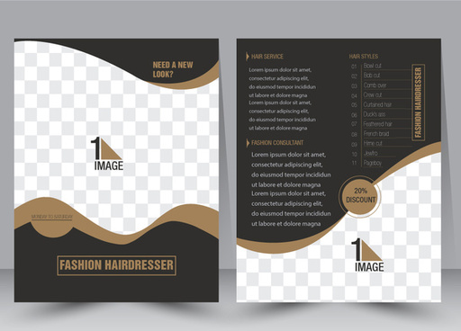 flyer template vector illustration with checkered background