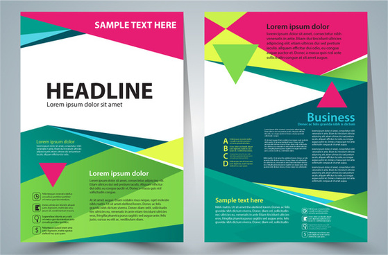 flyer template vector illustration with modern colorful style