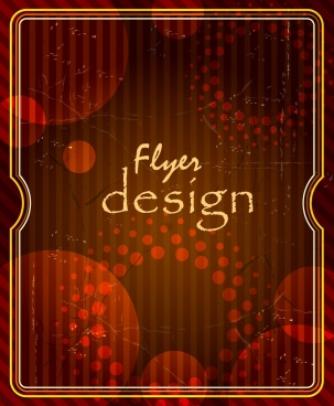 flyer template vintage design dark circles decoration