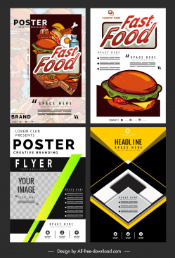 flyer templates fast food abstract themes