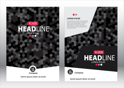 flyer vector illustration with dark bokeh background