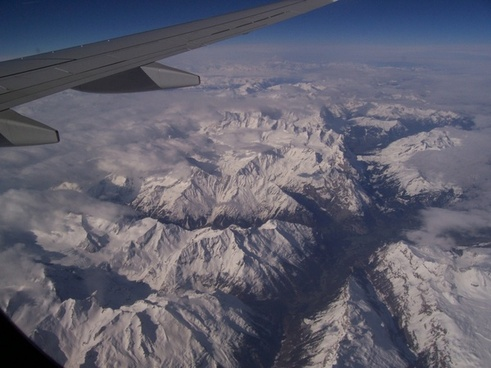 flying alps mountains
