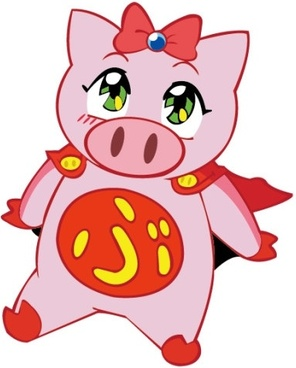 flying pig vector girl