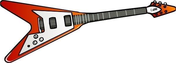Flying V Guitar clip art