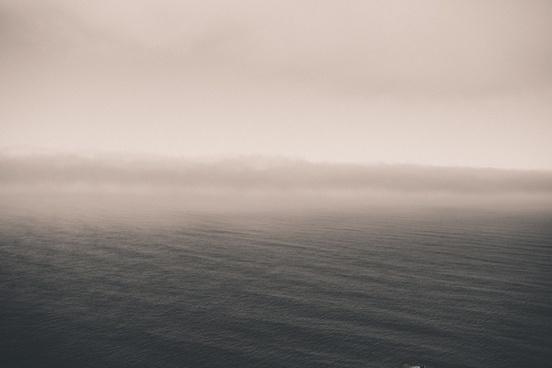 fog landscape mist ocean rain ripple storm water
