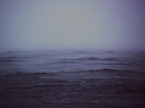 fog mist ocean rain ripple storm water wave