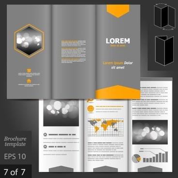 fold business brochure vector