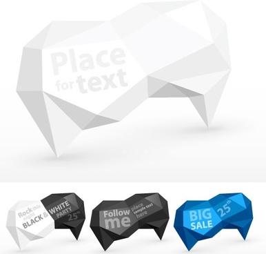 fold dialog 02 vector