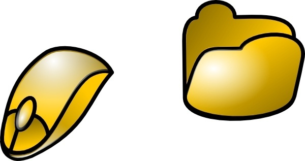 Folder And Mouse Icon clip art