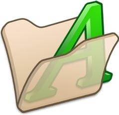 Folder beige font1