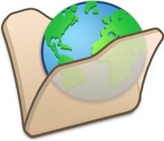 Folder beige internet