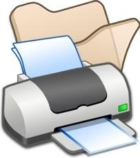 Folder beige printer