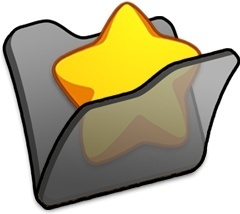 Folder black favourite