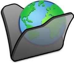Folder black internet