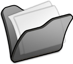 Folder black mydocuments