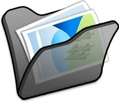 Folder black mypictures