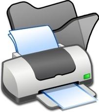 Folder black printer