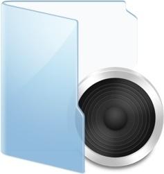 Folder Blue Audio