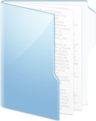 Folder Blue Documents
