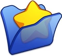 Folder blue favourite
