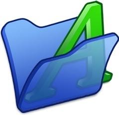 Folder blue font1
