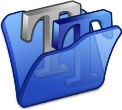 Folder blue font2