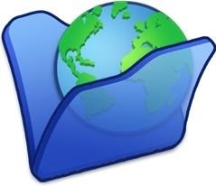 Folder blue internet
