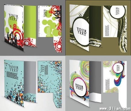 folder templates colorful modern abstract decor