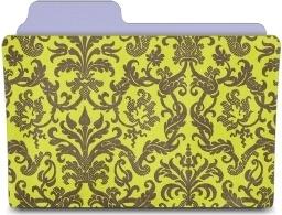 Folder damask chartreuse