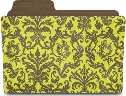 Folder damask chartreusey
