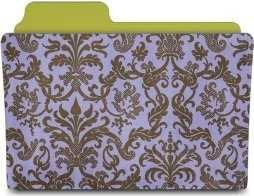 Folder damask hyacinth