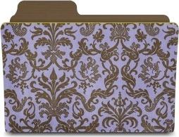 Folder damask hyacinthy
