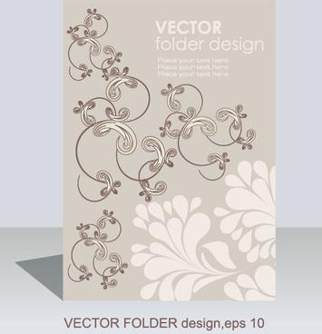 folder design vector floral background
