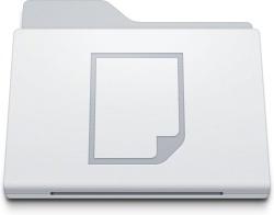 Folder Documents White