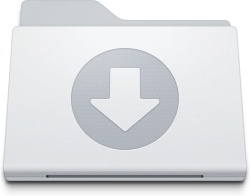 Folder Downloads White