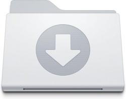 Folder Downloads White