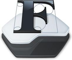Folder fonts folder
