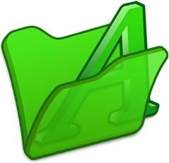 Folder green font1